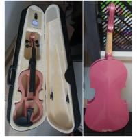 Wholesale Pink Solid Basswood Junior Electric Violins Ebony Parts With Case And Bow Promotion from china suppliers