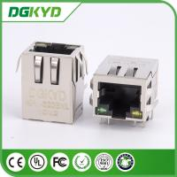 Wholesale Metal shield right angle 1000 base RJ45 modular jack,with magnetic transformer, G/Y from china suppliers