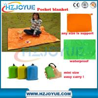 Quality Factory detect sell Wholesale customized ultra-thin pocket folding blanket waterproof Folding Pocket-Size Blanket for sale