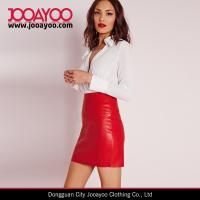 Wholesale Sexy Highwaist Faux Leather Mini Skirt Shiny Red Tube Short Skirt from china suppliers