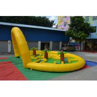 Wholesale Outdoor Durable Inflatable Sports Games 0.55mm PVC Tarpaulin Round Runway For Home from china suppliers