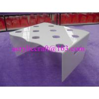 Wholesale 10 holes table top acrylic ice cream cone holder, acrylic ice cream cone display rack from china suppliers