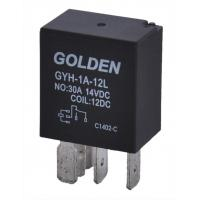Wholesale Golden Small Magnetic Latching Relay 12V GYF2 SARL HFV4 40A / 20A from china suppliers