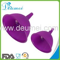 Wholesale Deumei Hot Selling Multifunctional Good Kichen Helper Collapsible Silicone Funnel from china suppliers