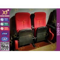 Dirty Proof Red Fabric Cinema Theater Chairs Seating With Foldable Seating Padding