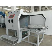 Buy cheap Cart Type Turntable Dustless Sandblasting Machine With Sturdy And Robust Welded Construction from wholesalers