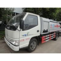 Wholesale JMC 4*2 4.2cbm lightweight aluminum alloy fuel refueling truck/fuel delivery truck, best price China JMC 5m3 oil truck from china suppliers