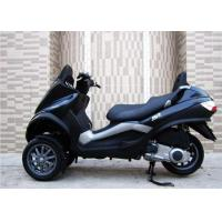 Quality 250cc Black Tri Wheel Motorcycle With Windshield Rear Box / CVT Transmission for sale