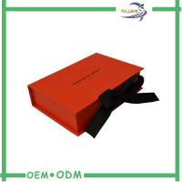 Quality Hot Stamping Customized Printing Paper Folding Box With Magnetic Ribbon Close for sale