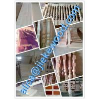 Wholesale sell rubberwood stair culomn solid wood stair specification from china suppliers