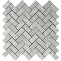 Buy cheap Grey marble mosaic tile herringbone 1x2