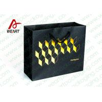 Wholesale Golden Hot Stamping Wedding Paper Gift Bags With Ribbon Handles from china suppliers