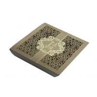China Square Lace Laser Cut Chocolate Paper Box  For Wedding Invitation on sale