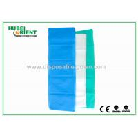 Wholesale 100% PP Nonwoven Disposable Bed Sheets For Travel Light Blue / White Color from china suppliers