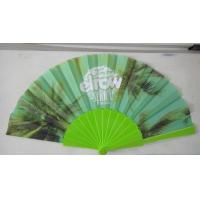 Wholesale Promotional Heat Transfer / Silk Printing Plastic Folding Hand Fans With Customer Logo from china suppliers