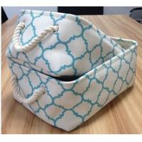 Wholesale Set 2, fabric decorative storage box with cotton rope handle from china suppliers