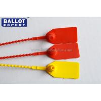Wholesale PP Plastic Security Seals Red / Yellow Number Indicator For Cash Bank Bag from china suppliers