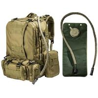 Wholesale 2.5L Tactical Hydration Backpack Hydration Water Bladder With 3 Molle Bags from china suppliers
