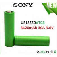 Wholesale SONY VTC6 18650 3000mAh 3.6V Electronic Cigarette battery, discharge 30A High Drain Recharge battery from china suppliers