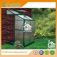 Wholesale 4'x4'x6.7'FT Green Color Single Door Wall Lean-To Series Garden Greenhouse from china suppliers