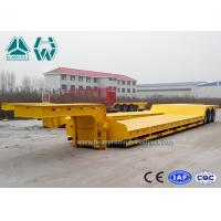 Wholesale Tri - Axle Semi Low Bed Trailer 100 Ton For Transport Heavy Equipment , Carbon Steel from china suppliers