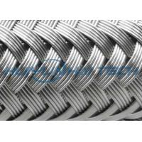 China High Grade Stainless Steel Braided Hose Sleeve 0.10 - 0.30mm Easy Installation on sale