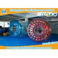 Wholesale 0.7mm TPU Blue and Red Inflatable Water Roller With Best quality from china suppliers