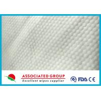 Wholesale Small Pearl Dot Spunlace Nonwoven Fabric , Nonwoven Roll Ultra Thick 30~120GSM from china suppliers
