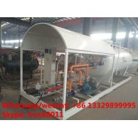 Wholesale 2017S customized 8m3 4tons mobile skid lpg tank for sale,cheapest price skid lpg tank plant with single digital scale from china suppliers