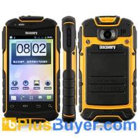 Wholesale V5 Shockproof Android 2.3 Wi-Fi 3.5 Inch Capacitive Screen Smart Phone (Yellow) from china suppliers