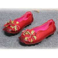 Wholesale Original handmade leather Comfortable Trendy Shoes for ladies , red yellow blue from china suppliers