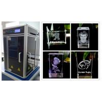 China Air Cooling 4000HZ 3D Laser Engraving Machine Diode Pumped For Glass Crystals on sale