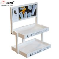 Wholesale Wood Cosmetic Display Stand Counter Top Marketing Skin Care Products Display Stand from china suppliers