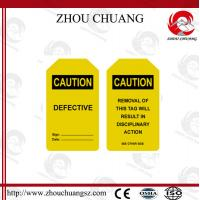 New Design PVC Customized Standard  Tagout lable Used With Padlock
