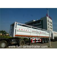 Wholesale Container tube CNG Tanker trailer , 6265Nm3 oil / water / milk tanker trailer from china suppliers