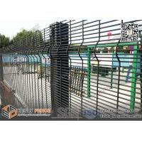 Buy cheap 358 Anti-climb Security Welded Mesh Fence Powder Coated with  Black Color| from wholesalers