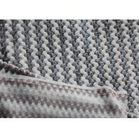 Wholesale Cationic Jacquard Flannel Fleece Fabric For Bedding / Curtain from china suppliers