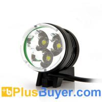 Wholesale Waterproof LED Bicycle Headlight + Headlamp (2200 Lumens, 3 LEDs, Rechargeable) from china suppliers