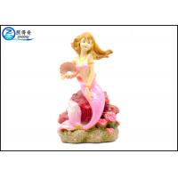 Wholesale Pink Color Mermaid Aquarium Tank Decorations With Polyester Resin Material from china suppliers