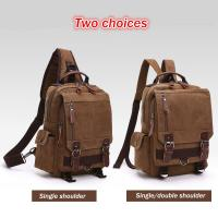 Buy cheap Dual Use One Shoulder Strap Backpack , Double Shoulders Stylish Laptop Backpack With Zipper from wholesalers
