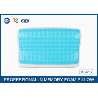 Wholesale Blue Quality Memory Foam Cooling Gel Pillow With Comfort Washable Cover from china suppliers