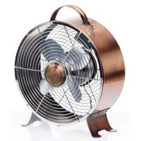 Copper 9 Inch Antique Electric Fans SAA Metal With 30W 2 Speed Motor