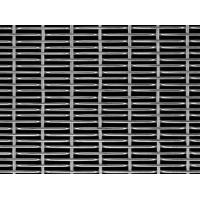 A piece of cable metal mesh with flat round wire and single row cable steel wire on the black background.