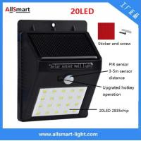 Wholesale IP65 PIR Solar Lights Motion Sensor 20LED 300lumens 4W Solar Garden Wall Light for Landscaping and Ilumination from china suppliers