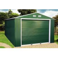 Wholesale Green Gable Roof Steel Car Garage / Metal Storage Shed With Electric Control Rolling Door from china suppliers