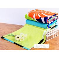 Quality Big Plain Style Velour Luxury Cool Beach Towels 100*180cm Extra Absorbent for sale