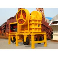 Wholesale Low Noise Diesel Engine Crusher , Three Tyres Portable Jaw Crusher ERDC2 150×250 from china suppliers