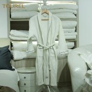 China Plush Terry Cloth Bathrobes Mens Towelling Bathrobe Hook Waffle Bathrobe on sale