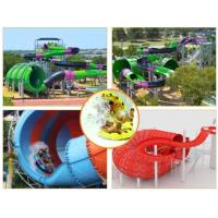 Wholesale Water Play Equipment Tornado Slide Fiberglass Water Slides with 18m Height Tower for Water Park from china suppliers