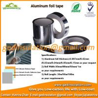 Wholesale High quality aluminium foil pipeline insulation with adhesive from china suppliers